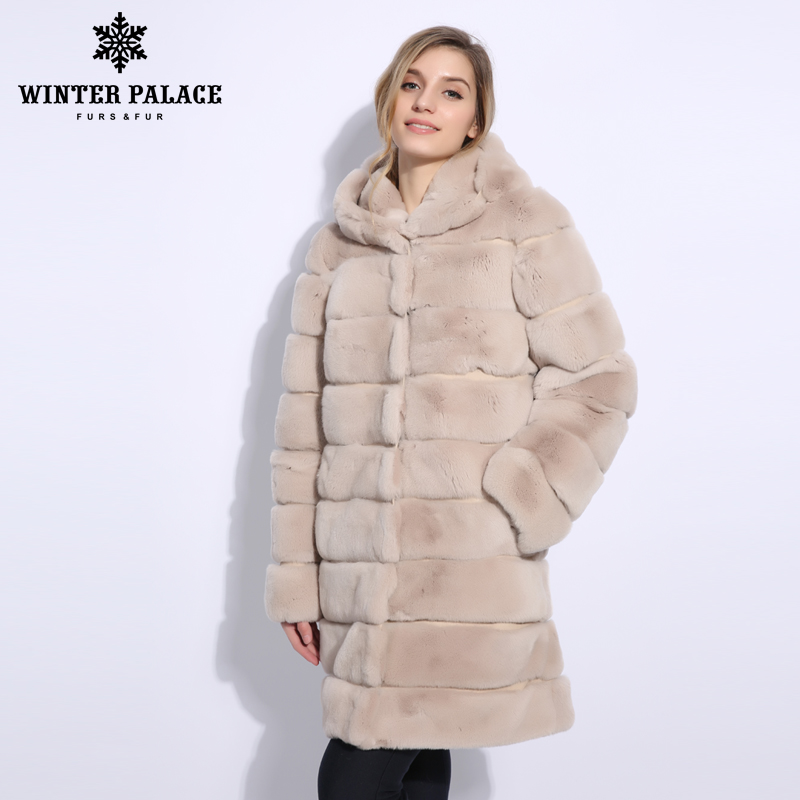 Normcore rabbit fur coat O-Neck fur coat Fashion new rex rabbit fur coat Casual real rex rabbit fur coat Medium 2847M90