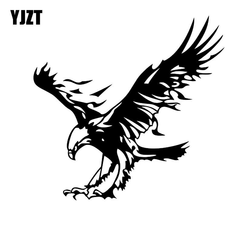 YJZT 20CM*19 2CM Personality Animal Flying Eagle Car Sticker