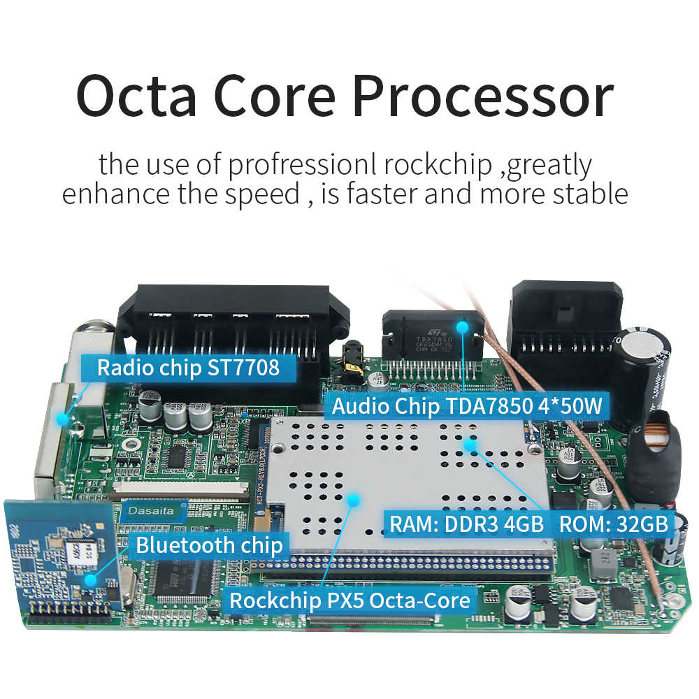"Dasaita 7 ""Android 9.0 OCTA Core 4G + 32G Universal Double 2 DIN สำหรับ Nissan รถเสียงสเตอริโอ GPS นำทางวิทยุรถมัลติมีเดีย"