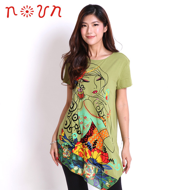 cfb0f5965a7f 2019 Summer утболка женская KASHITU Noun tops for Women Asymmetric Lace  Slim Casual t-shirt Print Clothing