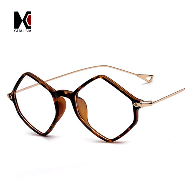 257bee4b63d SHAUNA Retro TR90 Diamonds Sharp Super Light Weight Women Glasses Frame  Comfortable Men Original Clear Lens