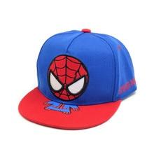 Spiderman Cartoon Children Embroidery Cotton Baseball Cap kids Boy Girl Hip Hop Hat cosplay hat