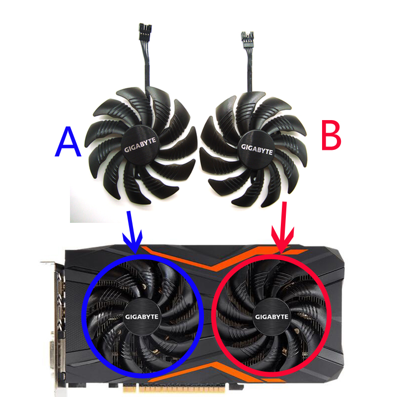 FreeShipping New 87MM PLD09210S12HH 0.40A 4Pin Cooling Fan For Gigabyte GeForce RX580/570 GIGABYTE GV-RX5 Video Card Cooler Fans