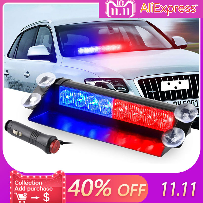 8 LED for Car Dash Strobe Flash Lights Blue/Red Emergency Police Flash Lights Warning Lamp LED Light car front emergency strobe light bar 8 led dash flash warning lamp traffic light roadway safety lamp