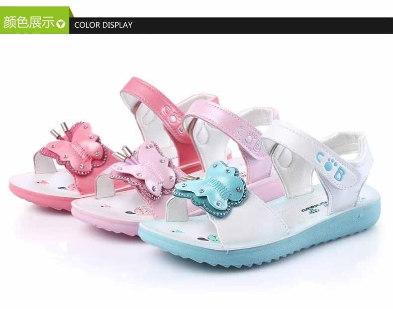 Çocuk sandaletleri Kızlar Yaz 2018 Yeni Prenses ayakkabı Sandalet Kızlar Moda Prenses Balık Kafası Çocuk Ayakkabı size21-36