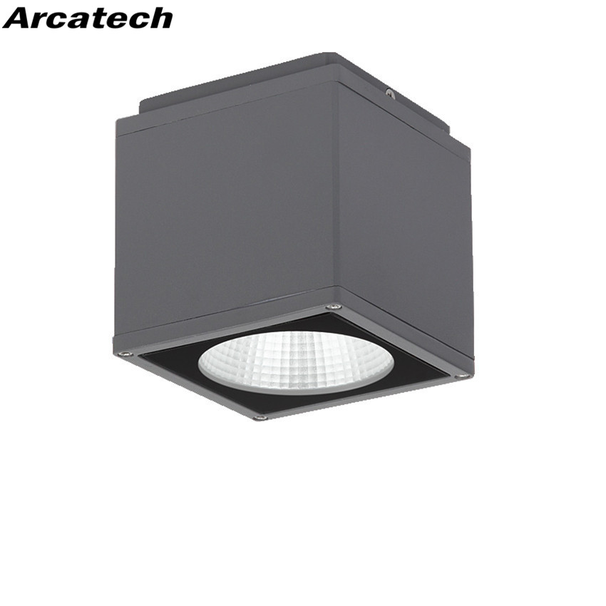 Us 718 2 10 Off 10pcs Lot Outdoor 8w Led Ceiling Light Waterproof Balcony Modern Square Down Garden Door Nr 53 In