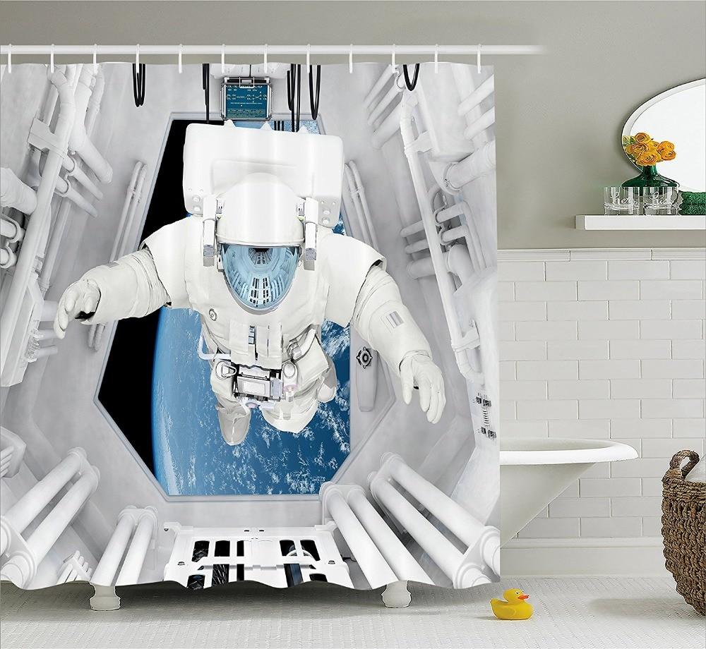 Buitenste Ruimte Decor Douchegordijn Astronaut binnenkant ...