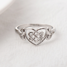 2019 Korean Cute Twisted Knot Heart Rings For Girls Minimalsit Silver Slim Love Women Charm jewelry Size 6-10