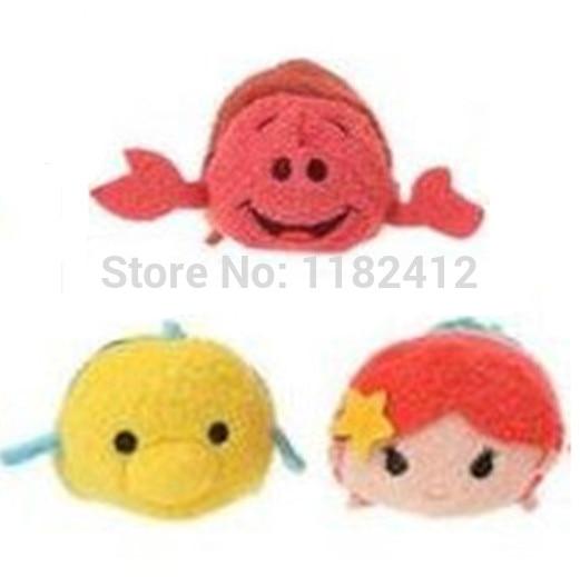 Concienzudo Tsum Mini Princesa De Peluche Sirenita Ariel Flounder Fish Sebastian Set De 3 Bonitos Juguetes Suaves Limpiador De Pantalla Para Smartphone