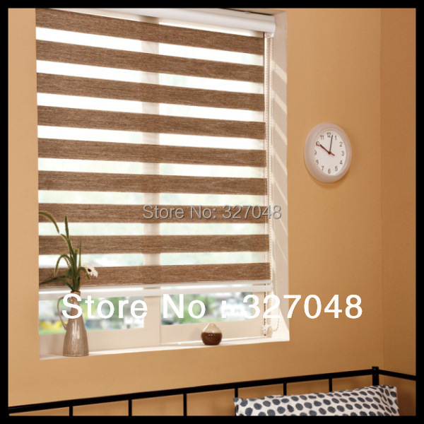 Free Shipping 100 Polyester Window Blinds Zebra Roller