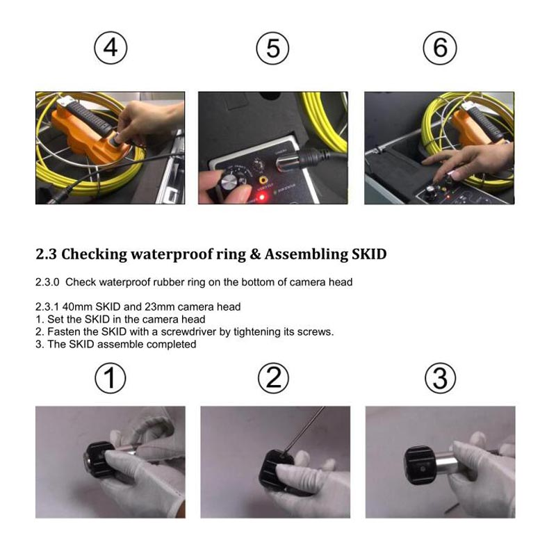 HTB1VPW3SpXXXXbsXVXXq6xXFXXXy - 9inch Pipe Sewer drain underground plumbing Inspection Camera auto self balancing 23mm camera head DVR self level