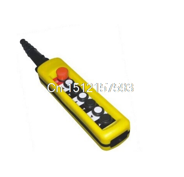One Speed Control Hoist Crane 6 Pushbuttons Pendant Control Station With Emergency Stop 2 speed control hoist crane 6 pushbuttons pendant control station with emergency stop