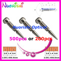 500pcs or 200pcs glasses spring hinge screws  small package eyeglasses eyewear screws 2.0X1.4X6.0/6.4/7.5mm or 2.0X1.2X6.0mm