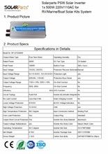 Solarparts 1×500 Watt solar-wechselrichter PSW 12 V/24 V DC zu 220 V/110 V AC outdoor RV Marine auto home camping off grid solar panel kits