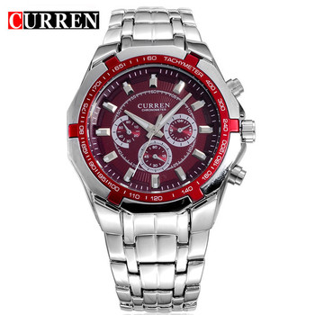 цена на Relogio Masculino Curren Watches Men Brand Luxury Stainless Steel Quartz Watch Men Casual Military Sport Clock Male Wristwatches