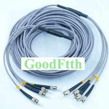 4Core Fiber Armoured armored Patch Cord Jumper Cable ST-ST Multimode 50/125 OM2 GoodFtth 10-50m