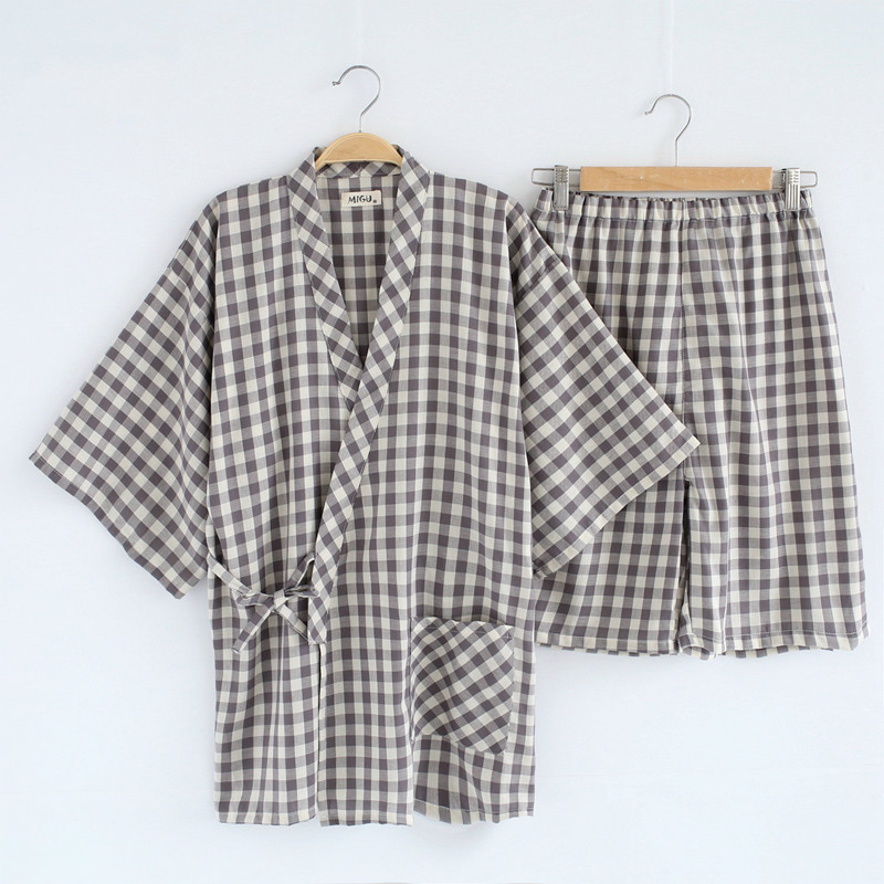 Summer Japanese   Pajama     Sets   Men and Women Pyjamas Kimono Sleepwear Female Comfortable Clothes Leisure Two Pieces Home Clothing