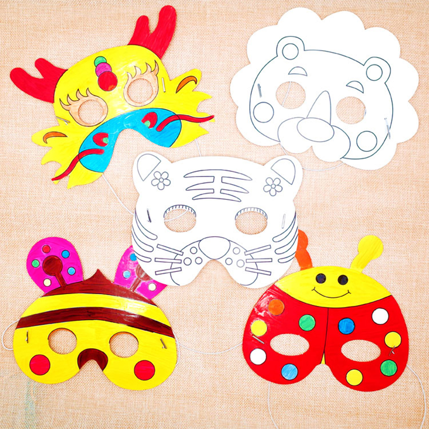 Ev Ve Bahce Ten Parti Maskleri De Graffiti Bos Maske Anaokulu