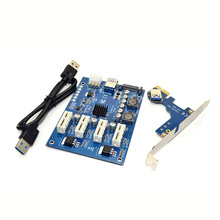 M.2 NGFF PCI-E PCI Extender Card Riser Adapter 4 PCI-E PCIe Slot Adapter Port PCIE Express Card Multiplier For Mining