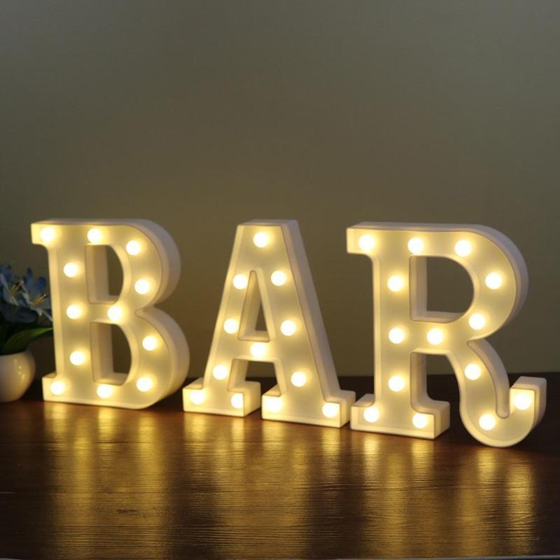 Decoration Crafts Decorative Number DIY Luminous Letter 3D