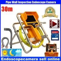 30 м 90 градусов стока эндоскоп Труба инспекции Камера трубы канализационные Камера Водонепроницаемый трубы Водостоки DVR Камера 12 шт. белый с