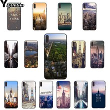 Yinuoda NYC NEW YORK city landscape Newly Arrived Black Cell Phone Case for iPhone X XS MAX  6 6s 7 7plus 8 8Plus 5 5S SE XR