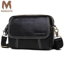 MONOLETH Top Genuine Leather Men Bags business Male Messenger Bag Fashion casual Crossbody Shoulder Bag Men Travel Bag W6001