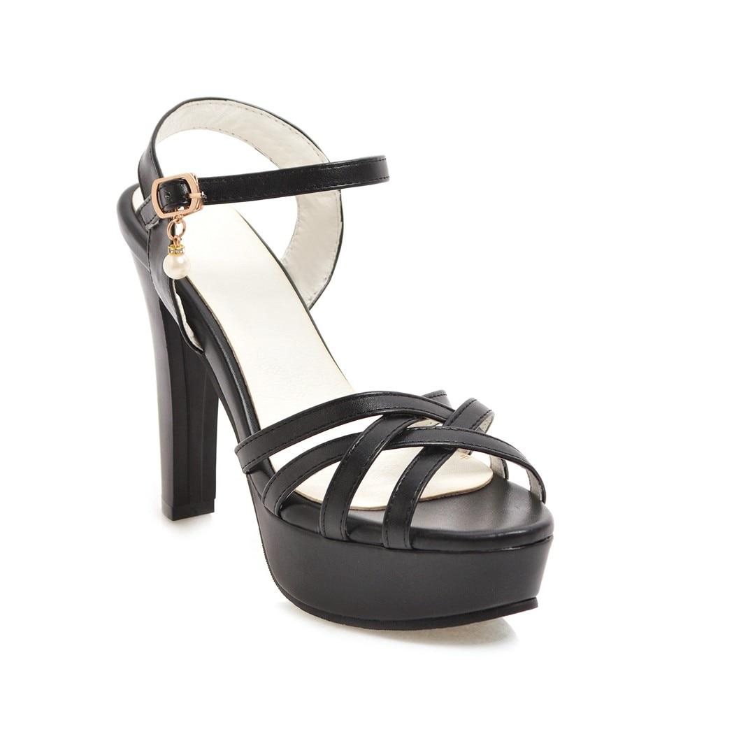 blanc Beige Nouveau Super Sandales Plate Ldhzxc 2018 Pompes Boucle 12 Taille rose Fashio Grande noir forme Chaussures Femmes Talons Mince Hauts D'été À 11 8xxgEqIRw