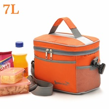 7L Thicken Folding Fresh Keeping Waterproof Lunch Bag Cooler For Steak Insulation Thermal Ice Pack S-350