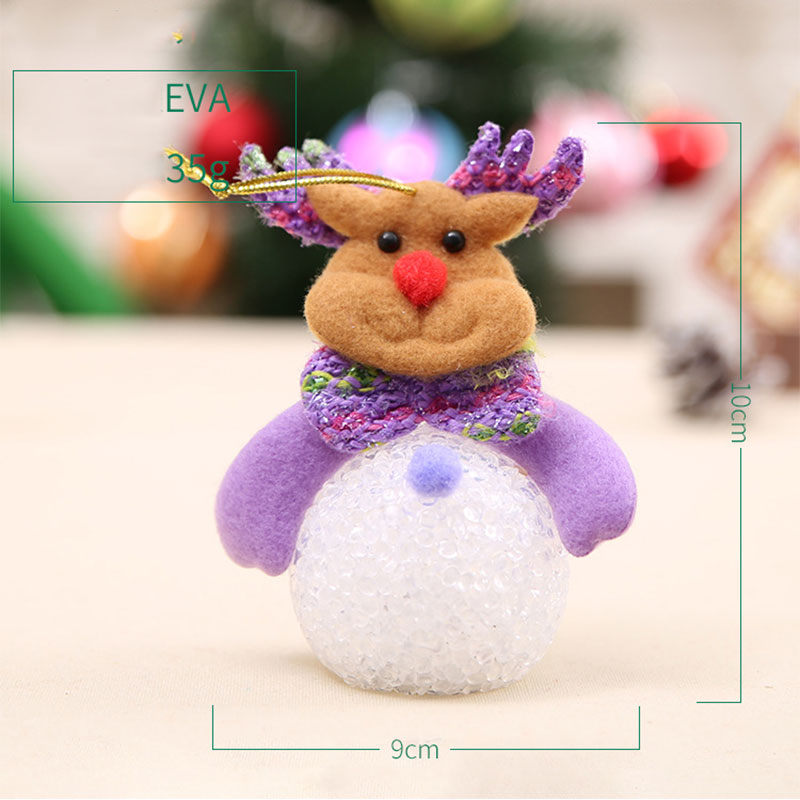 New Year Christmas Decoration for Home accessories Glowing EVA Snowman Nightlight Snowman Christmas Tree gifts Navidad Natal (14)