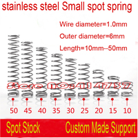 50pcs 1 0 8 10mm 1 0 10mm 1 0mm Stainless Steel Small Spot Spring Wire