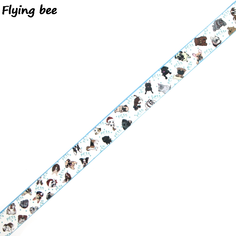 Flyingbee 15mmX5m Paper Washi Tape Cute Dogs Puppy Adhesive Tape DIY Scrapbooking Sticker Pets Dog Masking Tape X0339 in Office Adhesive Tape from Office School Supplies