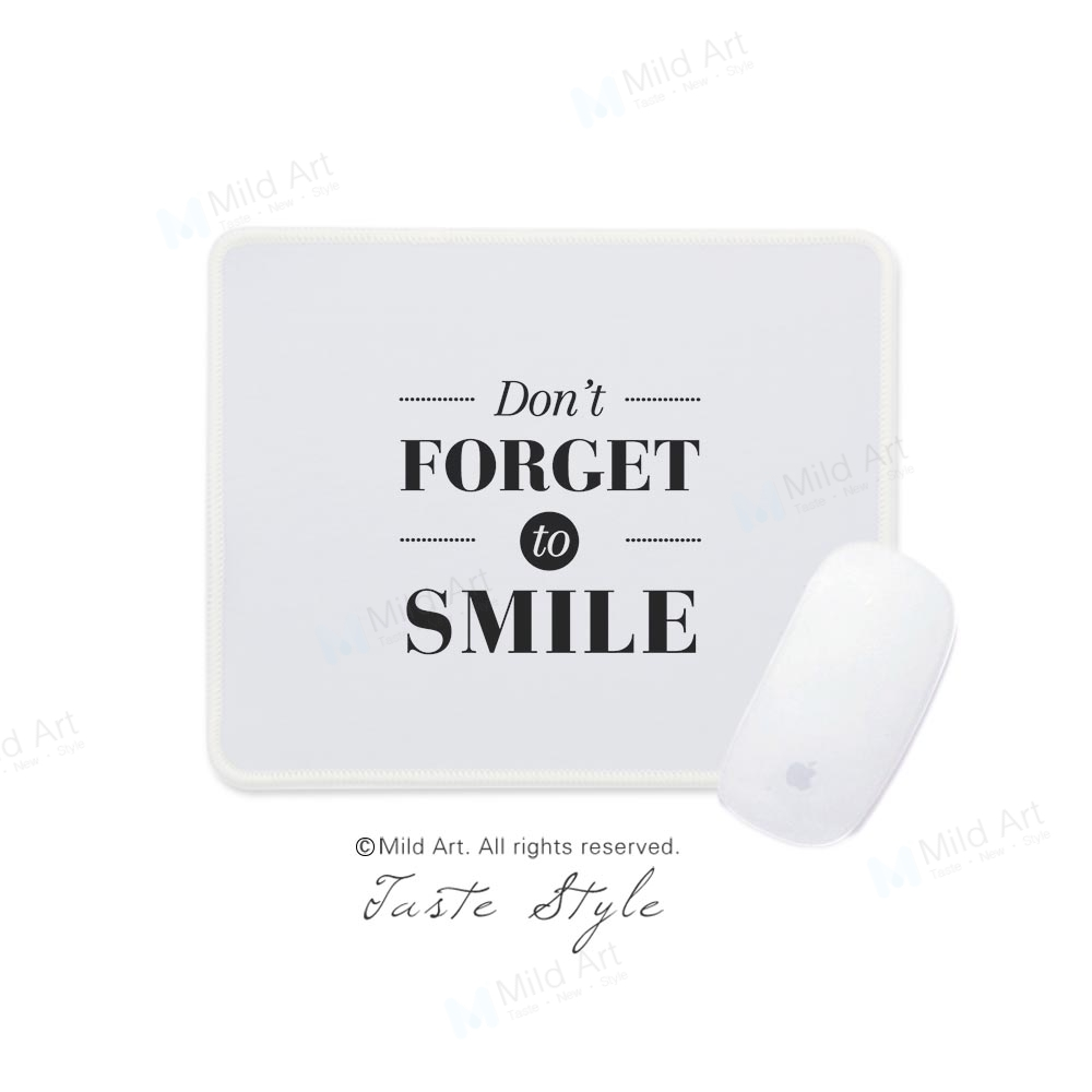 Mild Art Black and White Minimalist Inspirational Quotes Typography Smile Nordic Large Custom Prints Gaming Computer Mouse Pads