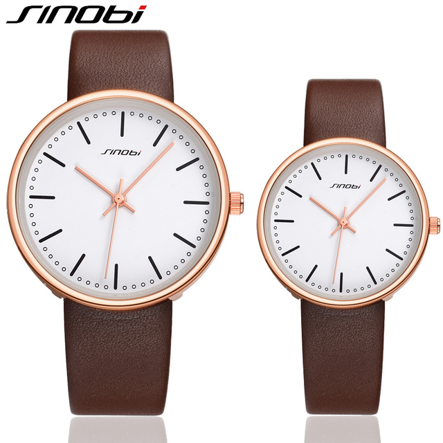 SINOBI Fashion Party Top Quality Couples' Watch Date New Arrival Men Watches Business Meeitng Waterproof Relojes De Mujer