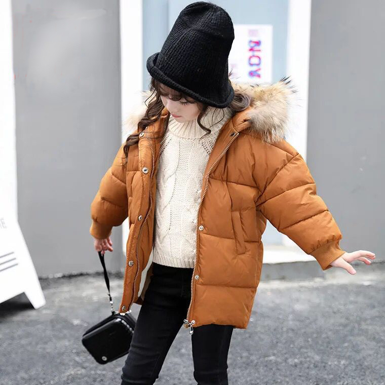 2017 New Winter Baby Girls Cotton Coat Children Thicken Jackets Kids Warm Outercoat Toddler  Padded Jacket,3-8Y,#2359