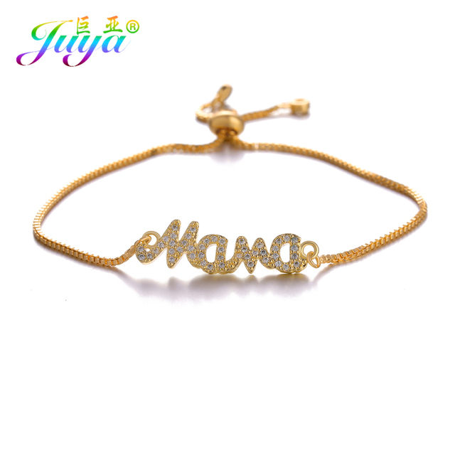 Juya Handmade Charms Bracelets Gold Silver Rose Bahama Mama For Mom Mother S