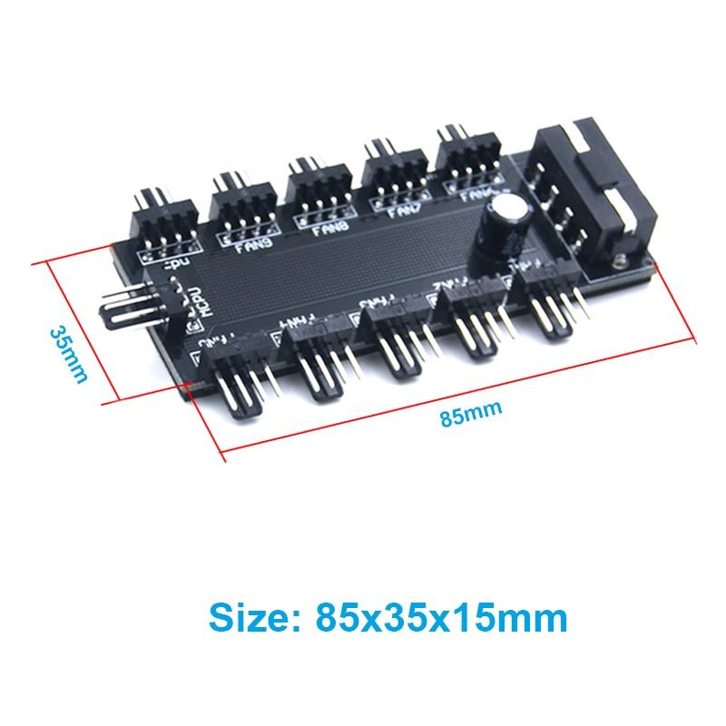 10 ports PWM 4pin CPU Cooler / Case / Chasis Adaptateur de - Câbles et connecteurs informatiques - Photo 5