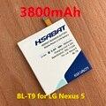 Bl-t9 batería 3800 mah para lg nexus 5 e980 google nexus g d820 d821 nexus5 megalodon google nexus 5 d8 bateria de la batería bl T9