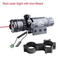 Adujstable Taktik Av Kırmızı Lazer Sight Kapsam Gun Tüfek Tabanca Picatinny Dağı Için Işın Nokta 3-0001R