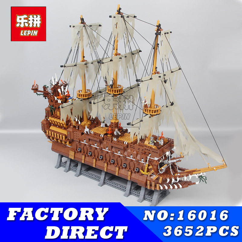 Lepin 16016 3652Pcs Movies Series MOC The Flying the Netherlands Building Blocks Bricks Compatible Pirates Caribbean 16006 Toys ...