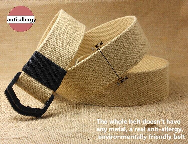 Men Women Casual Waist Belt Waistband Plain Webbing Canvas Belt Strap Belts SG