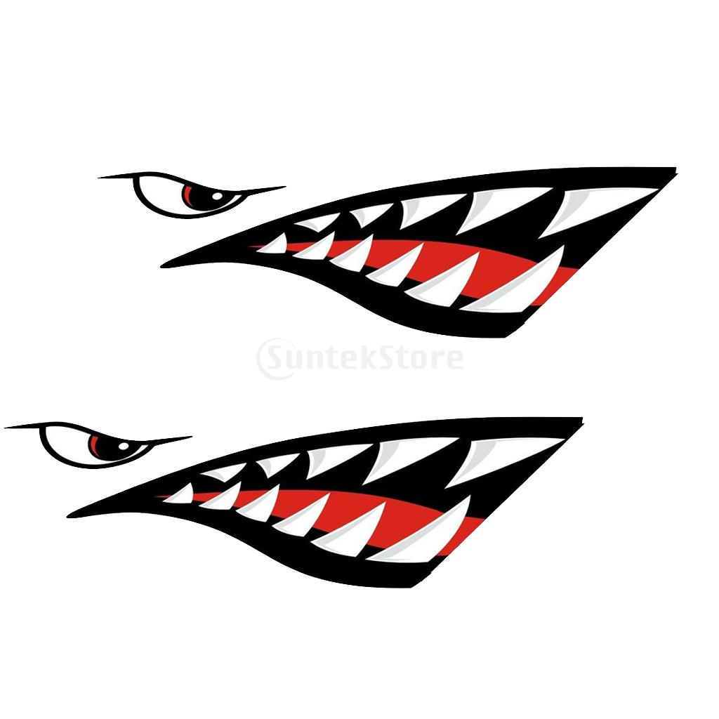 4pcs vinyl skeleton fish bones shark teeth mouth kayak decals car wall window canoe tackle box fishing boat stickers graphics in rowing boats from sports