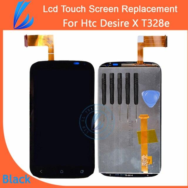 LL ТРЕЙДЕР 100% Первоначально Гарантия Для HTC Desire X T328e ЖК-Экран Высокого Дисплей с Сенсорным Экраном Дигитайзер Ассамблеи Бесплатный инструменты
