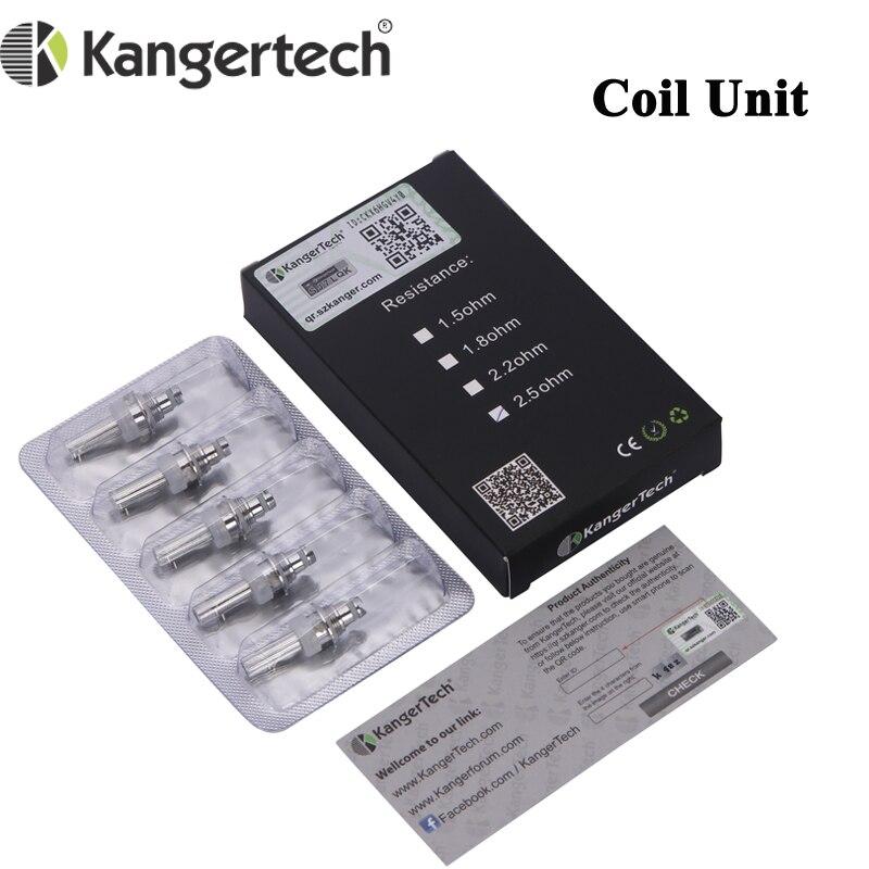 50pcs lot Original Kanger Coils Unit 1 5ohm 1 8ohm 2 2ohm 2 5ohm Fit for