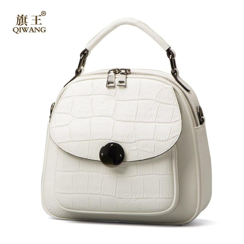 QIWANG หนังสีดำกระเป๋าเป้สะพายหลังหญิงแฟชั่นกระเป๋าสะพายเยาวชนกระเป๋าเป้สะพายหลังกระเป๋าเดินทางผู้หญิงกระเป๋าเป้สะพายหลังสำหรับสาว-ใน กระเป๋าเป้ จาก สัมภาระและกระเป๋า บน   1