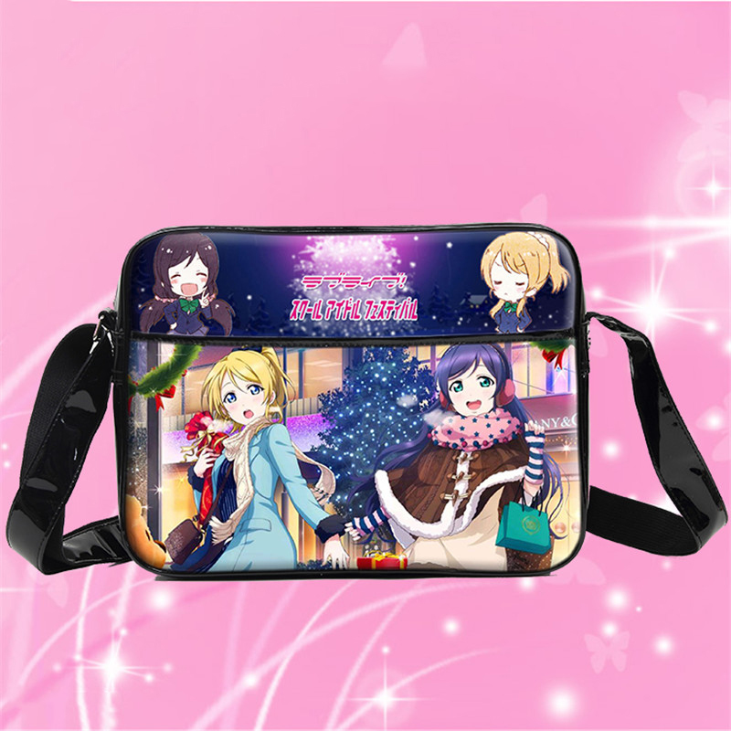New Japan Anime Love Live Cosplay Bag Women Girls Students Shoulder Book Bag PU Waterproof Messenger Bags new love live cosplay shoes sonoda umi lonelive anime party boots custom made