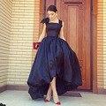 Preto Alta Baixa Vestido Prom Sexy Frente Curto Voltar Longa Noite Vestido de Festa Vestidos