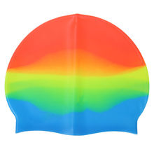 Adults Silicone Swimming Hat Colorful Stretch Swim Cap Summer Swiming Pool Bathing Hat for Women Men Adults Sports Swim Pool Hat 2018 flower drape stretch seaside fold swimming cap for sexy lady womens girls long hair stretch hat drape bathing swim hat