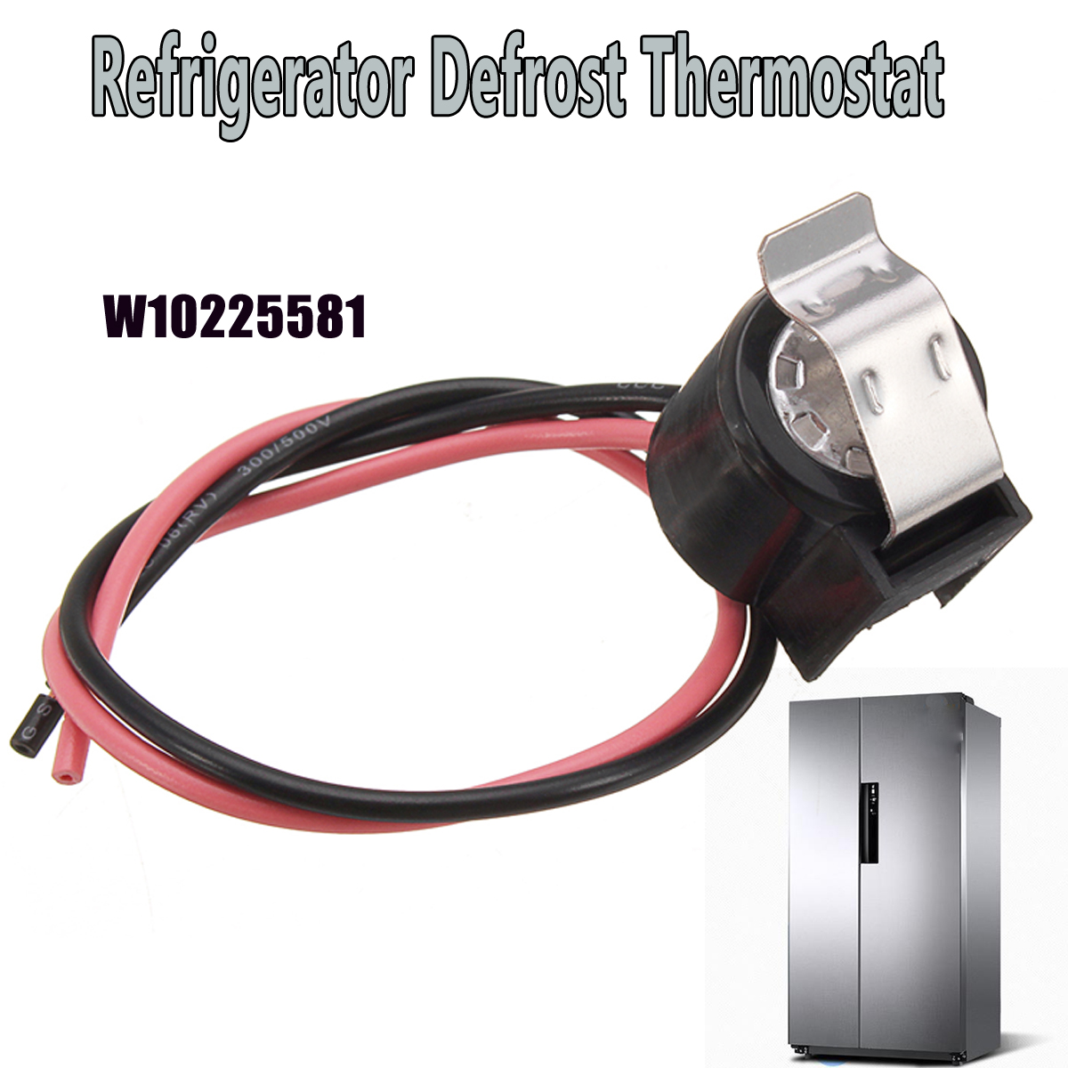 Refrigerator Defrost Bimetal Thermostat Replacement For Whirlpool W10225581 defrost timer tmdex09um1