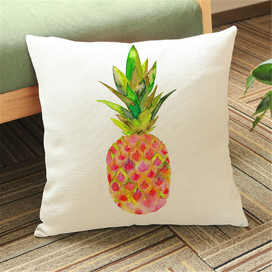 Pineapple decoration cushion covers pillow case cotton for Chaise dsw jaune moutarde